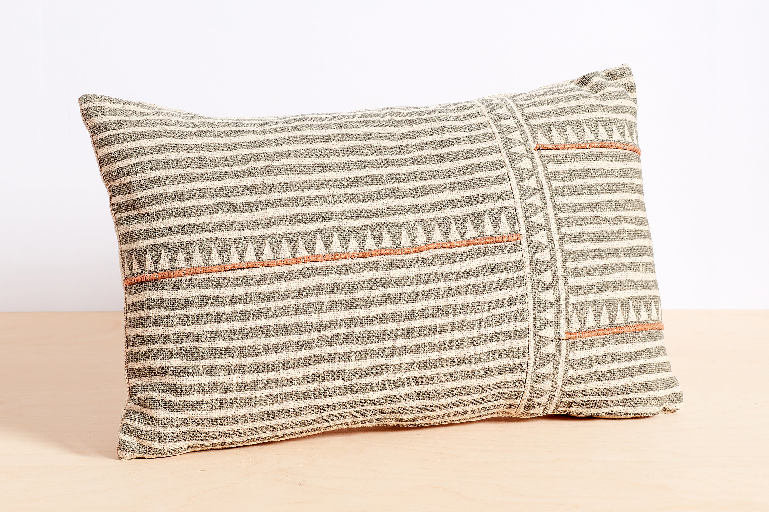 Triangle Stripe Lumbar Pillow