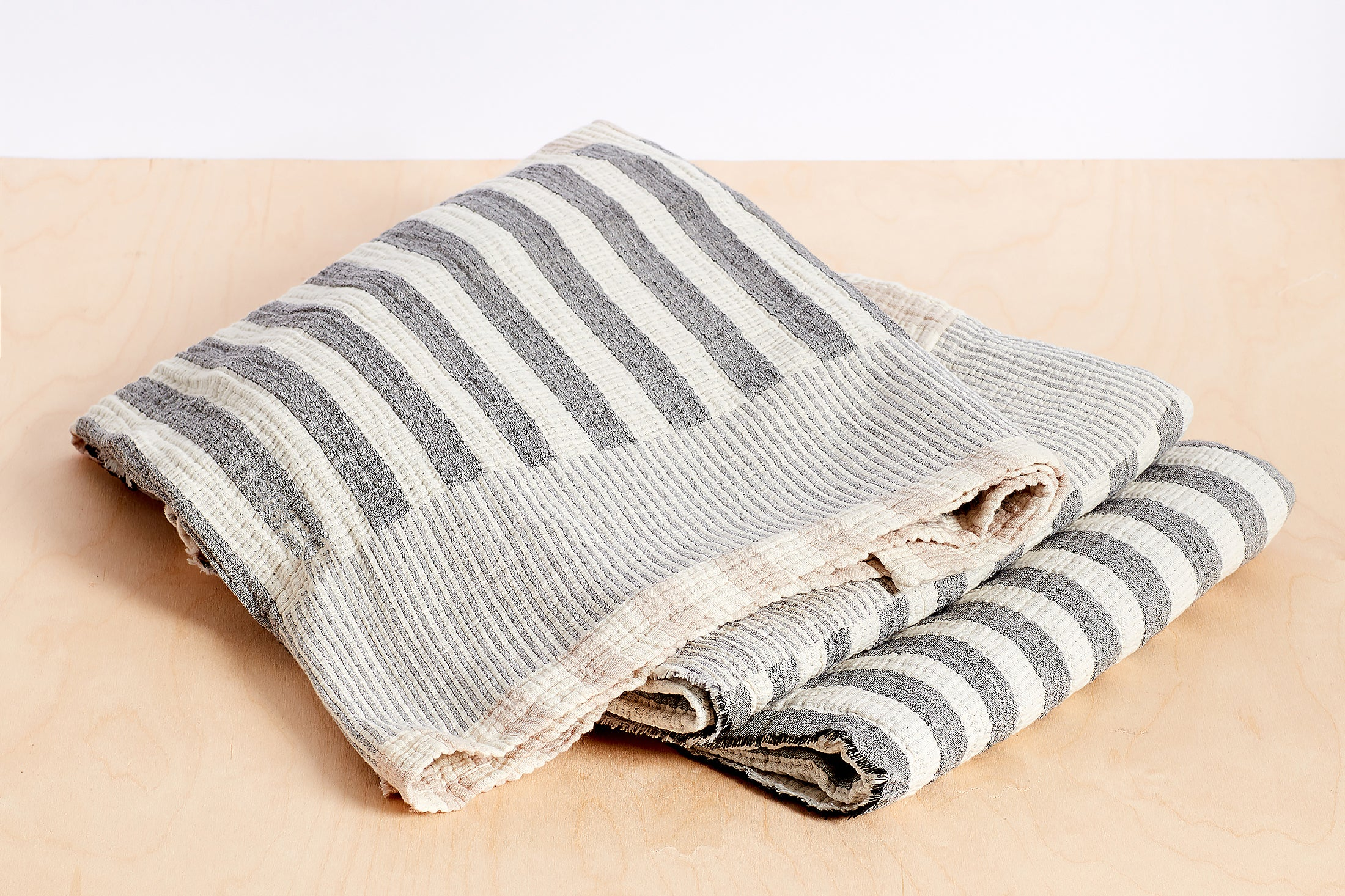 Organic Cotton Block Stripe Blanket