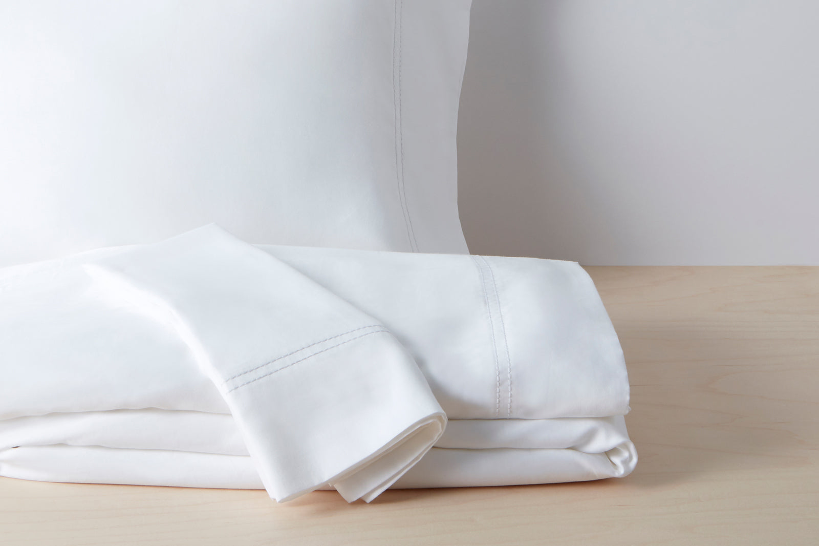 Organic Sateen Sheet Set; color: white
