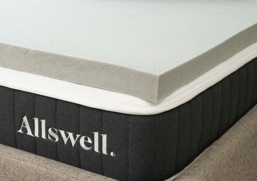 "3"" Memory Foam Mattress Topper Infused with Graphite"