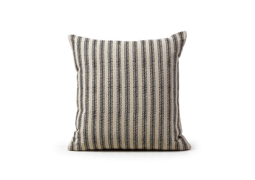 Textured Cotton Striped Pillow