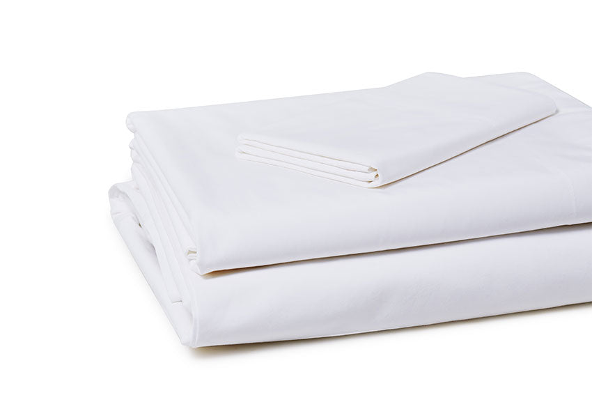 white sheet set with pillow case