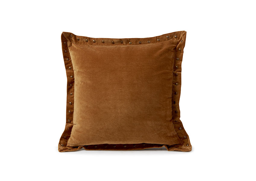 Decorative Rust Velvet Pillow