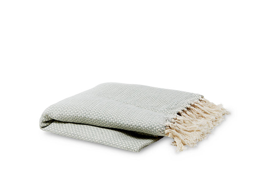 Mint Cotton Woven Throw