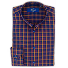 Cămașă Confex - Slim-Fit - Carou Orange Navy