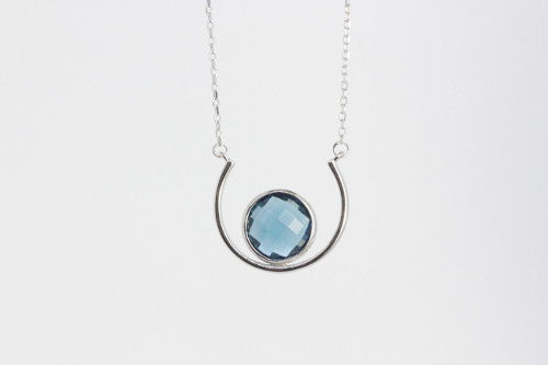 Collar Greece Glass Blue - Wild Coco