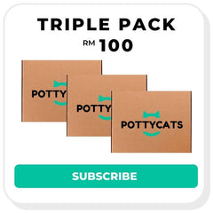 Pottycats cat litter monthly subscription - triple pack