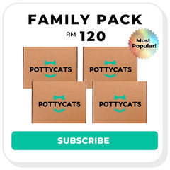 Pottycats cat litter monthly subscription - family pack