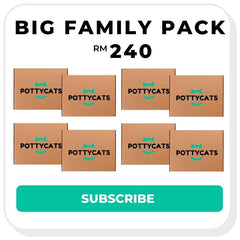 Pottycats cat litter monthly subscription - big family pack
