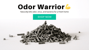 Pottycats activated charcoal cat litter to kill odor, virus, bacteria for a fresh home