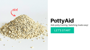 Pottyaid litter helps to potty train your cat to use the litter box effectively