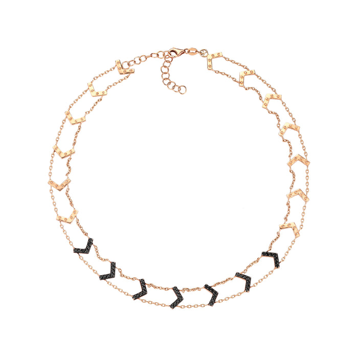 Kismet Black Diamond Arrow Choker Necklace
