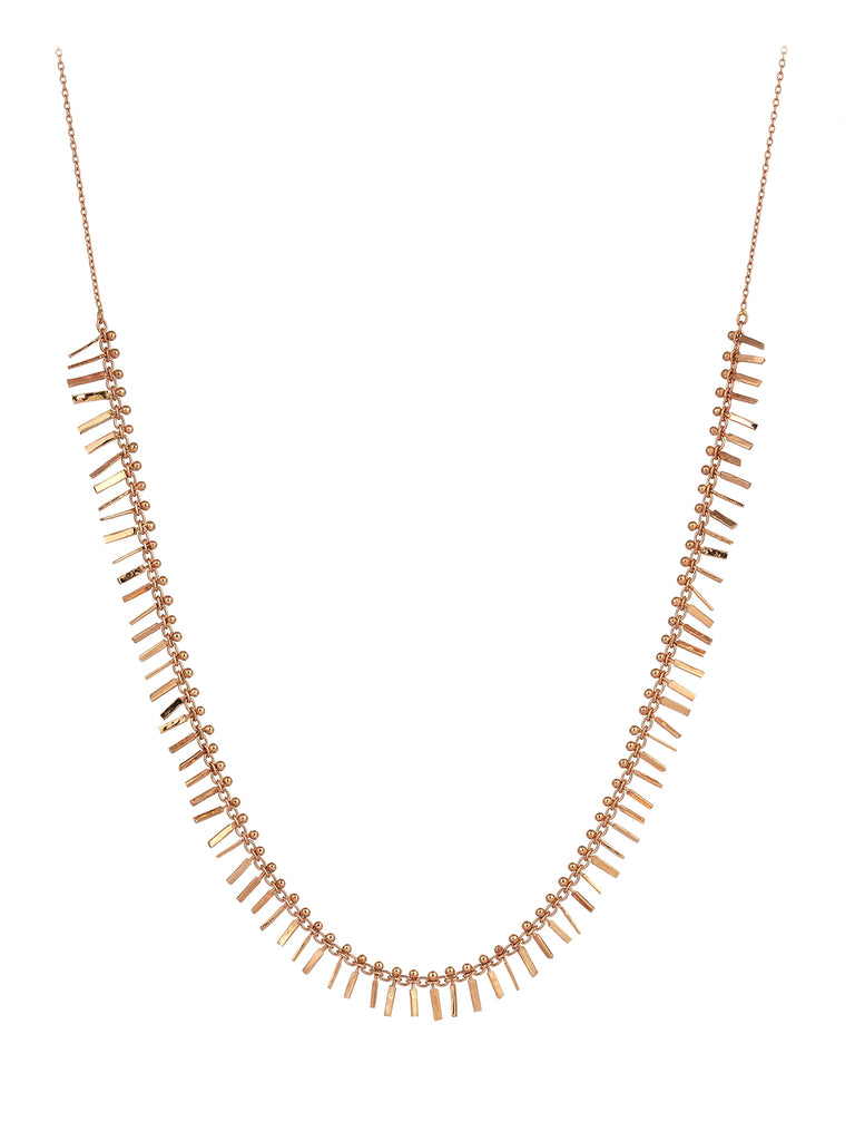 "Kismet Gold Even Stick ""Fire"" Necklace"