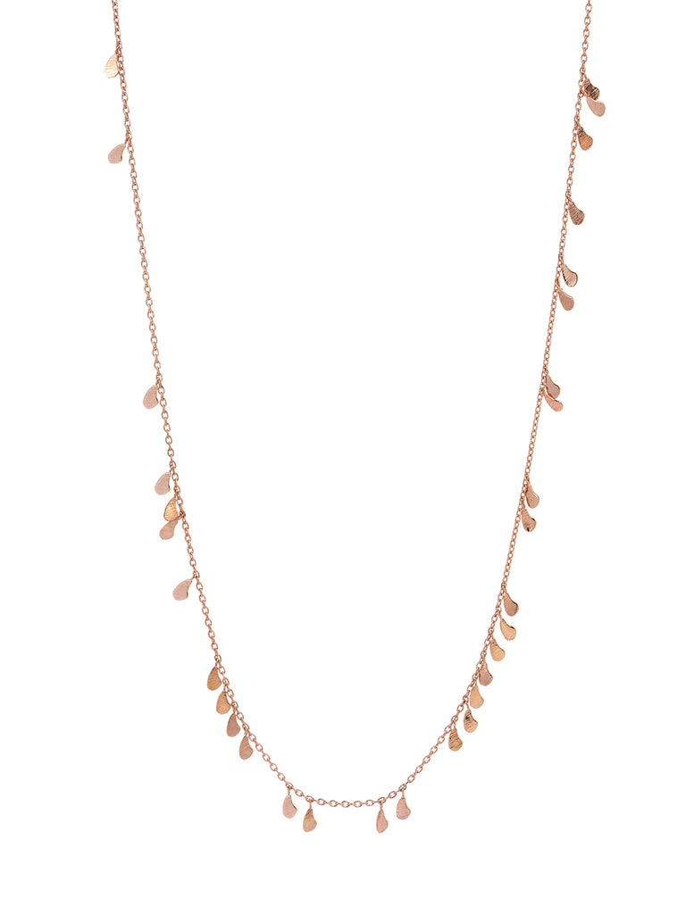 Rose Gold Pomegranete Seed Necklace