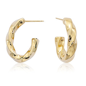 Box Twist Hoop Earrings
