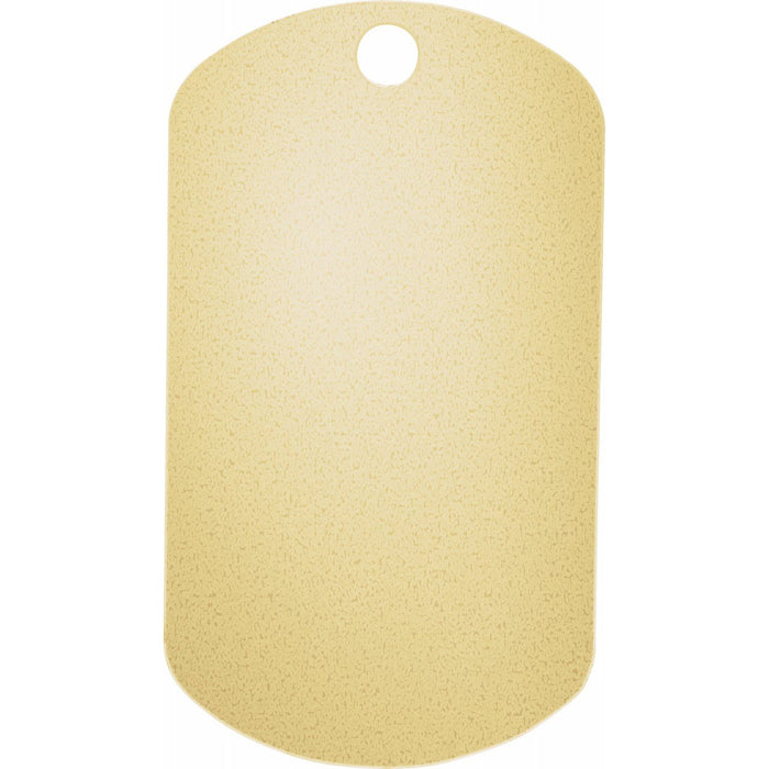 Recycled 14k Gold Dog Tag