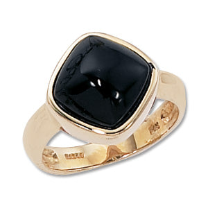ONYX 14k Gold Bold Ring