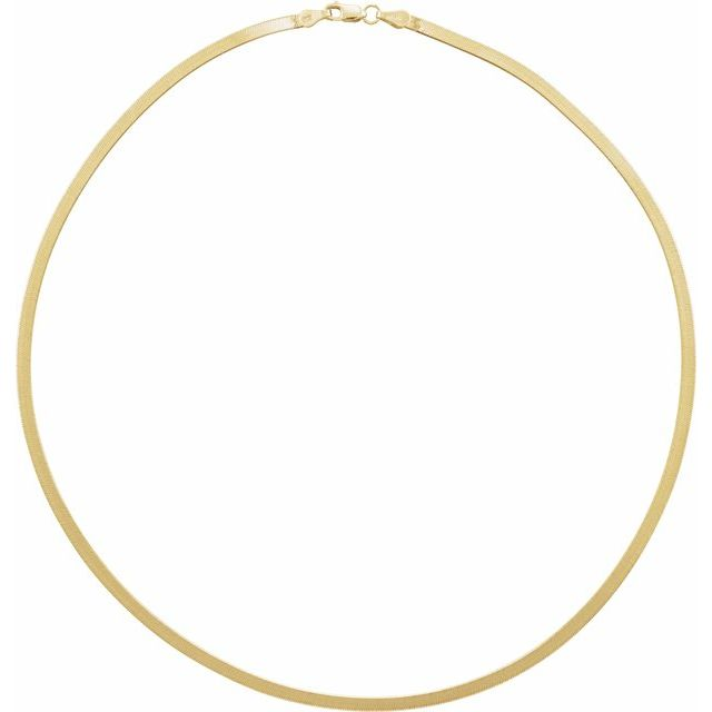 Flex Herringbone Chain Necklace