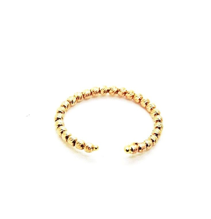 HGen2 Rose Gold Diamond Cut Beaded Ring