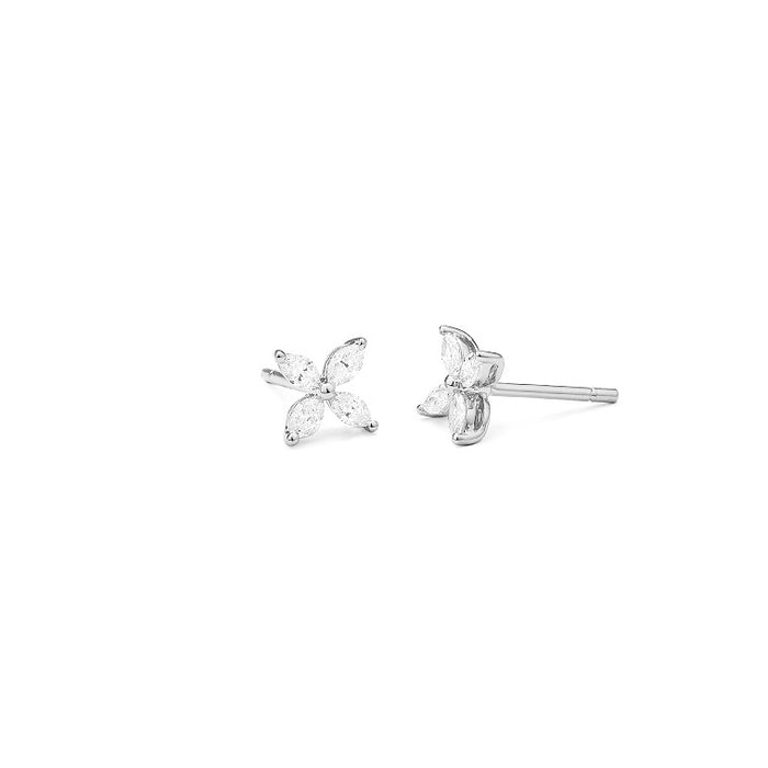 Plumeria Diamond Earrings