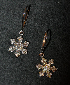 Custom Diamond Snowflake Earring