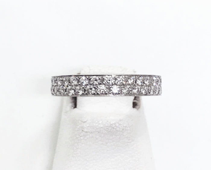 18k White Gold Diamond Ring Size 5.5