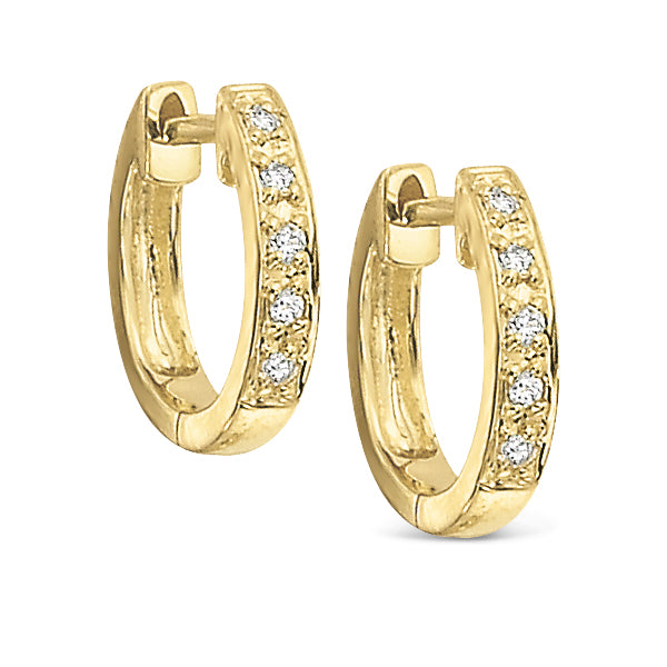 14K Gold and Diamond Mini Cuff Earrings