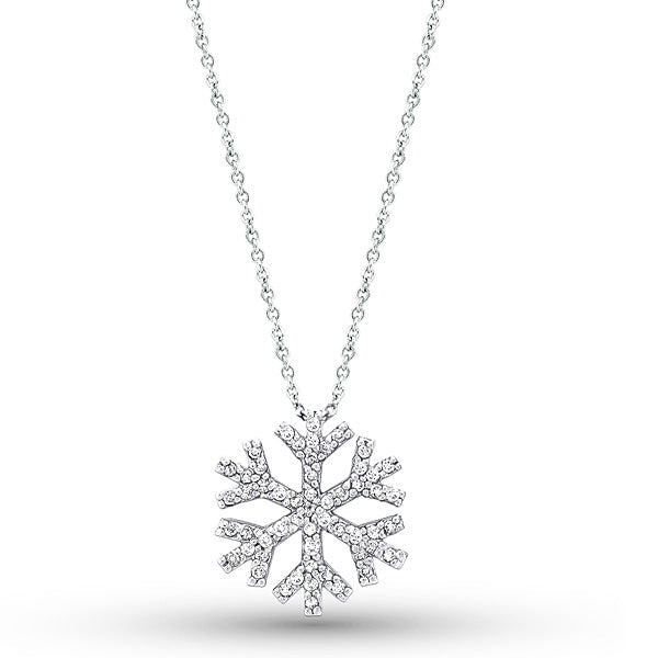 Geometric Diamond Snowflake