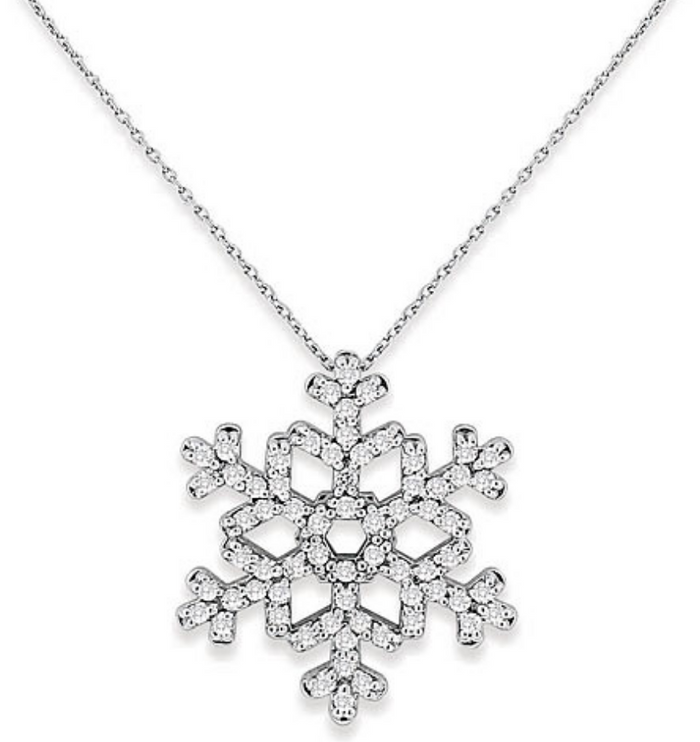 66 Diamond Snowflake Necklace in 14k