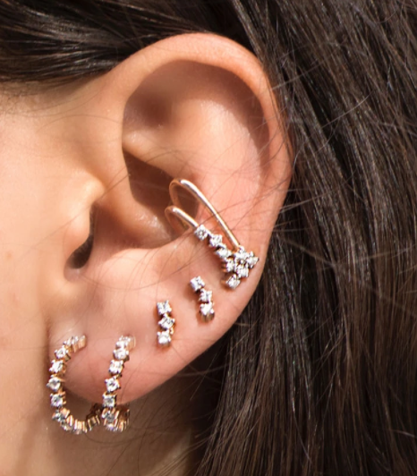 Triple Stud Earring