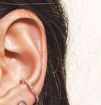 Rose Gold Diamond Stackable Ear Cuff