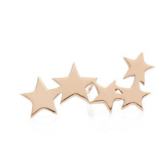 Gold Stand of Stars Earring