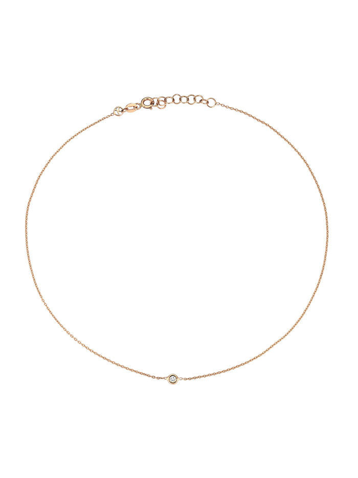 Kismet Solitare Diamond Choker Necklace