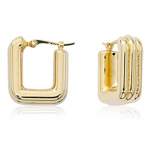 III Square Hoop Earrings