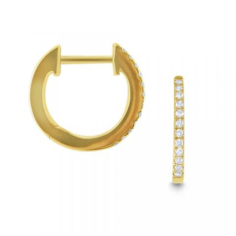 Slim Diamond Hoops