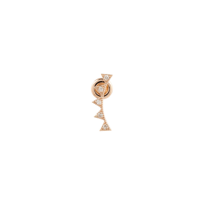 Kismet Flip Triangle Diamond Earring