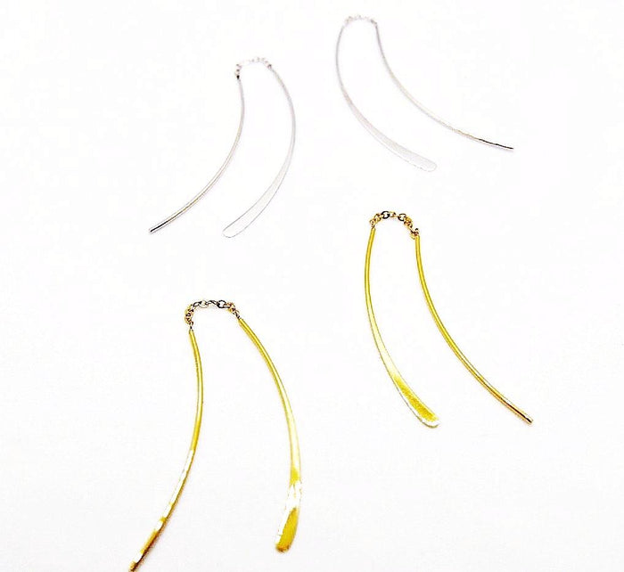 Long Gold Threader Earring