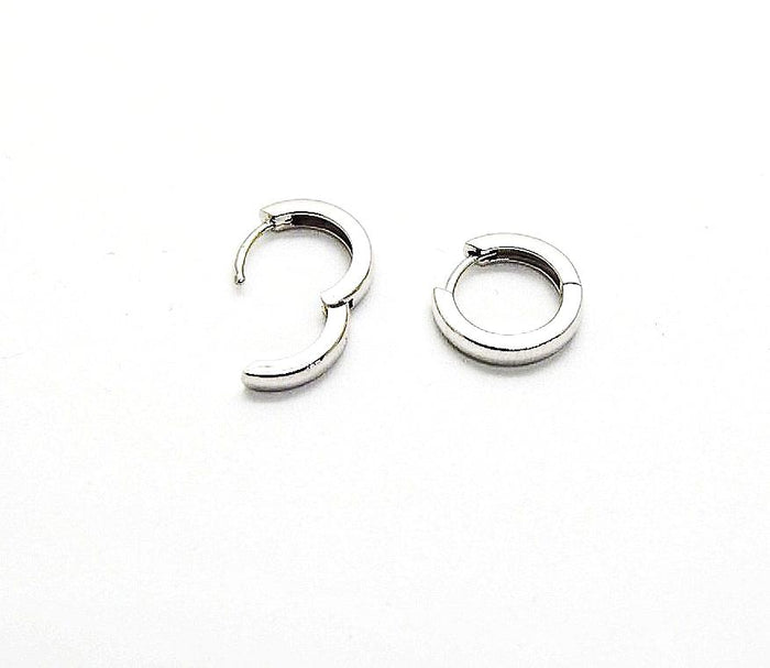 Simple 14k White Gold Hoops