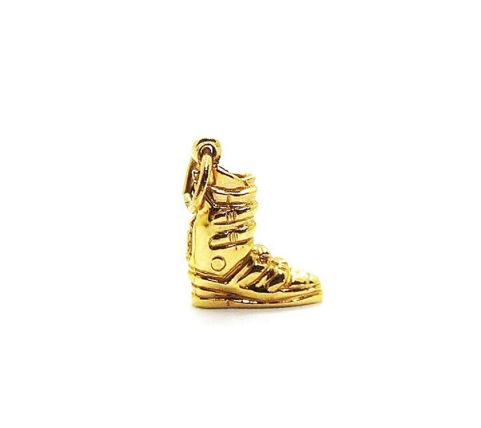 Gold Small Ski Boot Charm (No Diamonds)