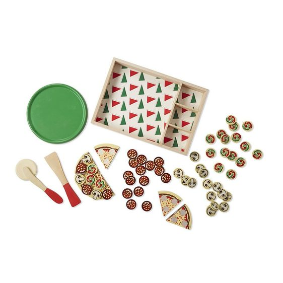 Melissa and Doug Pizza Party Wooden Play Food