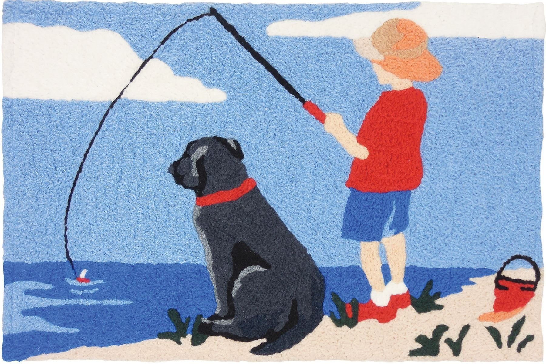 "Jellybean 21""x 33"" Fishing With Lab Rug"