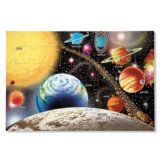 Melissa and Doug 48 Piece Solar System Floor Puzzle
