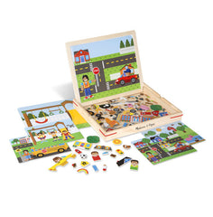 Melissa and Doug Wooden Magnetic Matching Picture Game
