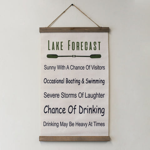 Lake Forecast Hanging Decor