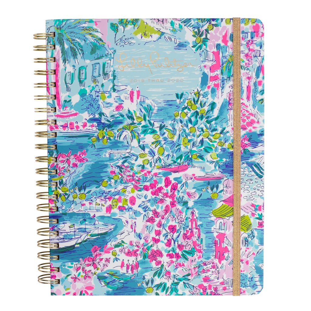 Lilly Pulitzer 17 Month Jumbo Agenda,Postcards From Positano