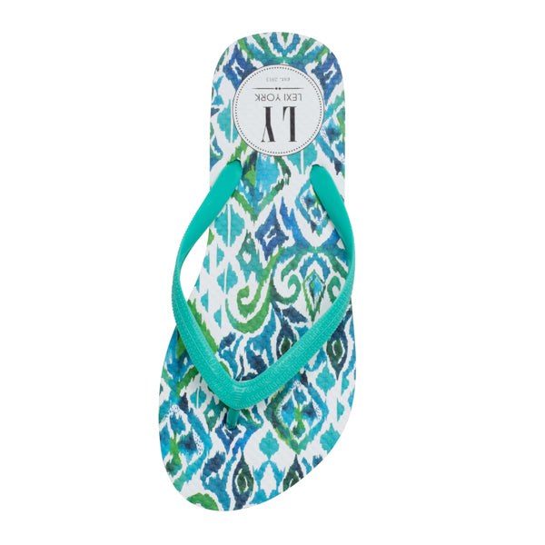 Top It Off - Green Tribal Flip Flop