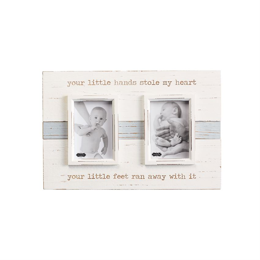 "Mud Pie ""Your Little Hands"" Wooden Frame"