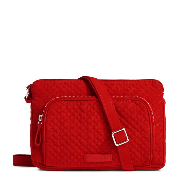 Vera Bradley Iconic RFID Little Hipster Cardinal Red