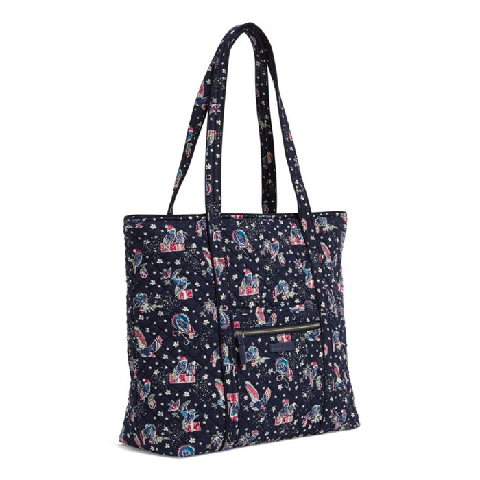 Iconic Vera Tote- Holiday Owls