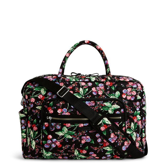 Vera Bradley Iconic Weekender Travel Bag Winter Berry